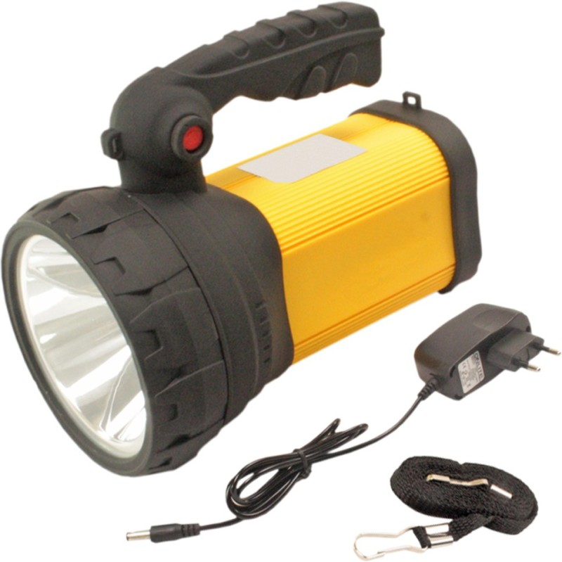 SJ 3mode Jumbo 10w Cree Rechargeable LED Torch - 47 Emergency Lights(Yellow)