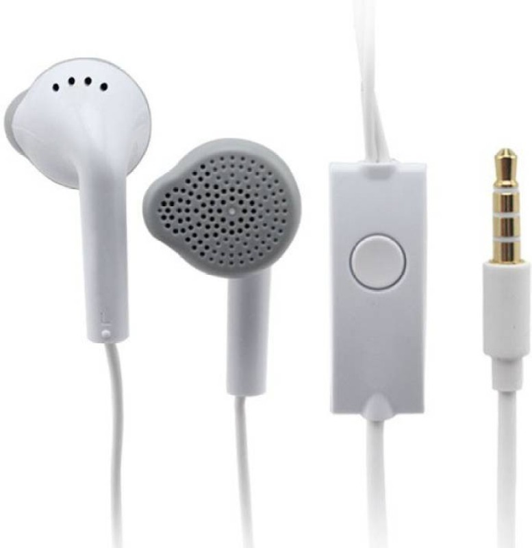 MS KING Galaxy S7 Edge Compatible Stereo Sound Handsfree Earphone (White, In the Ear) Wired Headset with Mic(White, In the Ear)