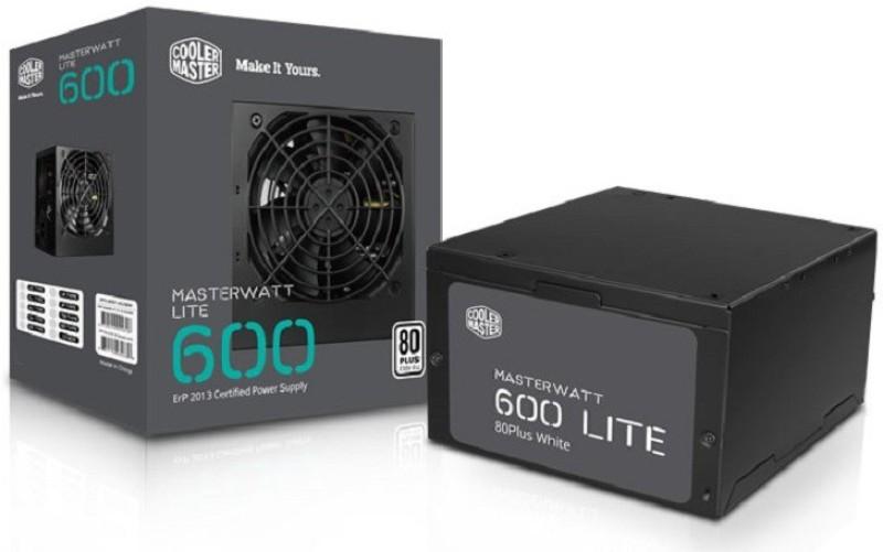 Cooler Master MasterWatt Lite 600W 230V UK Retail(MPX-6001-ACABW-UK) 600 Watts PSU(Black)