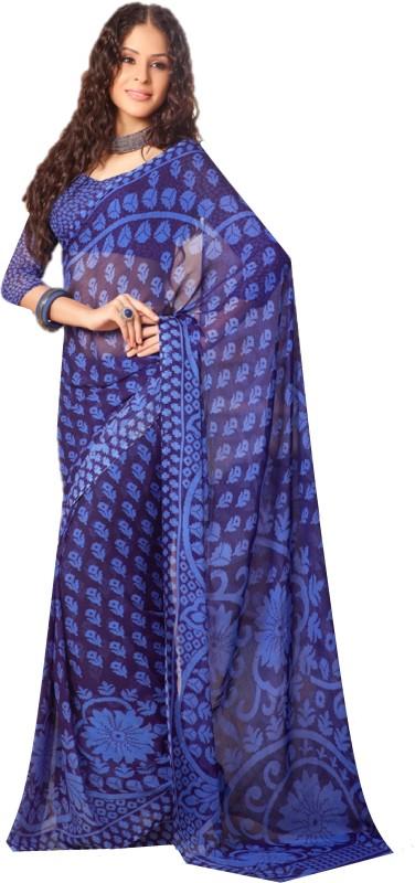 SGM Printed Fashion Chiffon Saree(Purple)