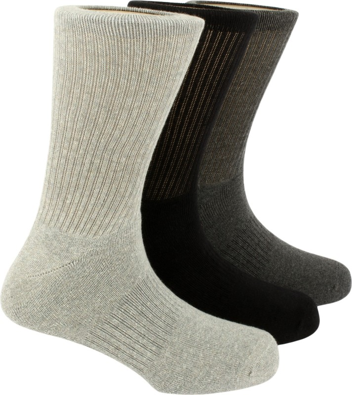 Calzini Mens Geometric Print Crew Length Socks(Pack of 3)