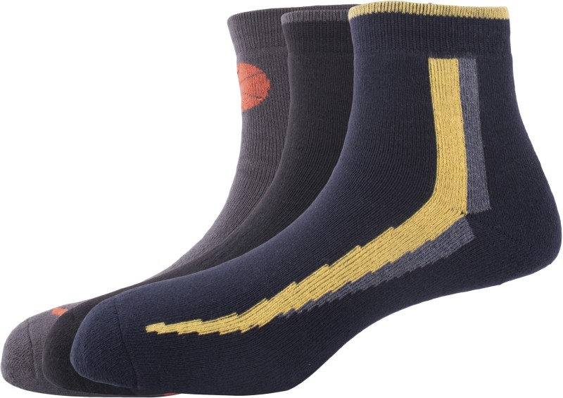 Hush Puppies Mens Striped Ankle Length Socks(Pack of 3)