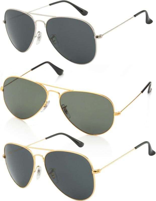 5de2e053994e5 AZMANI Aviator Sunglasses(Multicolor)