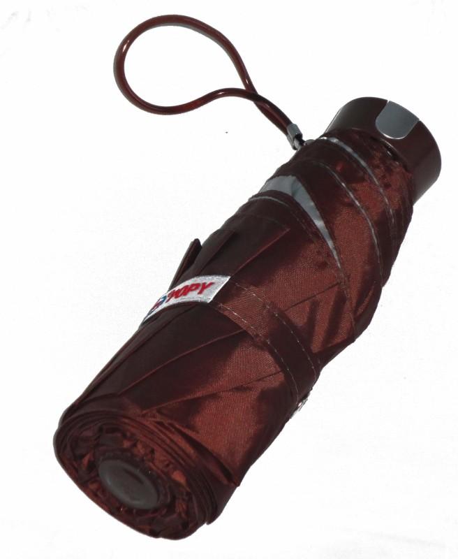 Popy 5 Fold Umbrella With Silver Coating Umbrella(Cofee Brown)