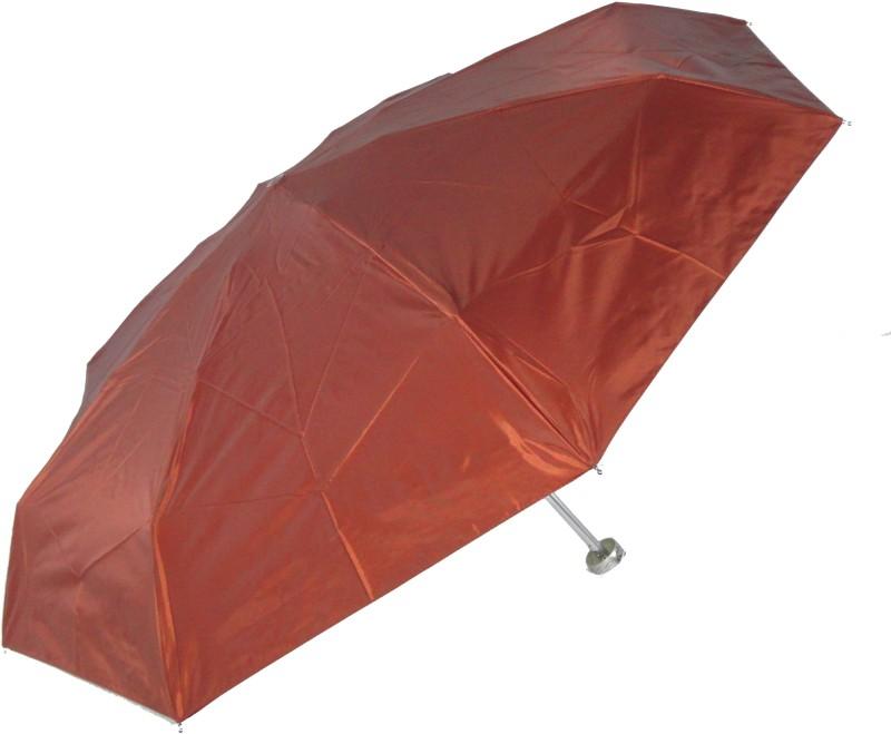 Popy 5 Fold Umbrella With Silver Coating Umbrella Umbrella(Brown)