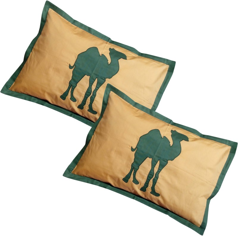 Hugs N Rugs Embroidered Pillows Cover(Pack of 2, 40 cm*60 cm, Multicolor)