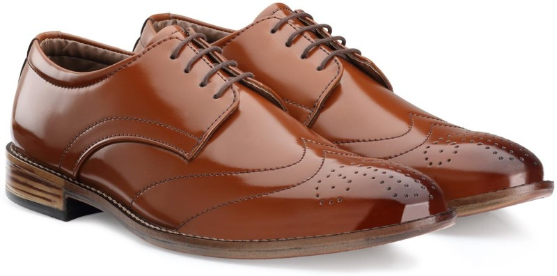 Escaro Mens Formal Lace Up For Men(Tan)