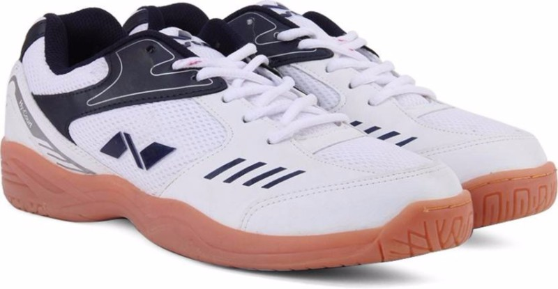 Nivia Hy-Court and MD Bag Badminton Shoes For Men(White)