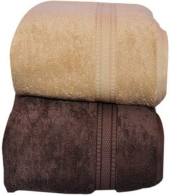 Shopping Store Cotton 450 GSM Bath Towel Set(Pack of 2, Multicolor)