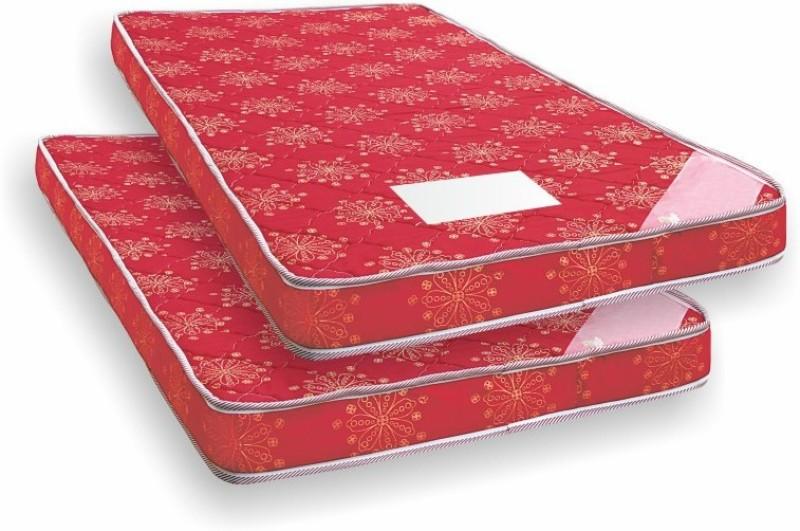 Coirfit Set of 2 4 inch Single Bonded Foam Mattress(Standard Foam)