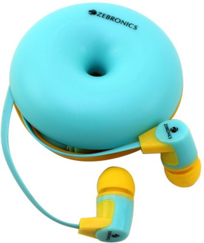 Zebronics EM990 Headphone(Light Blue, In the Ear)