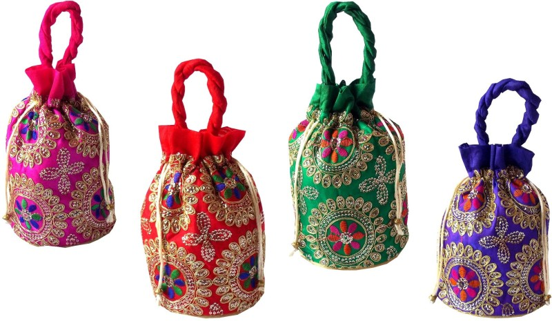 Style and Culture Multicolor pouch potli bag Potli(Multicolor)