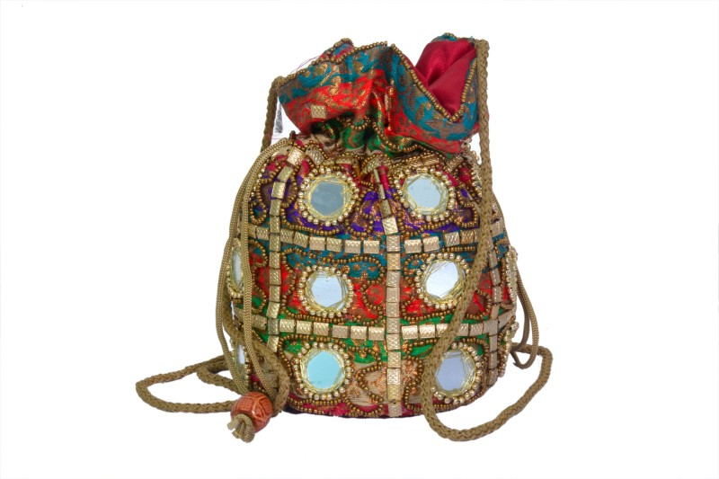 Craft Trade Women's Potli (Multicolor, Ct530) Potli(Multicolor)