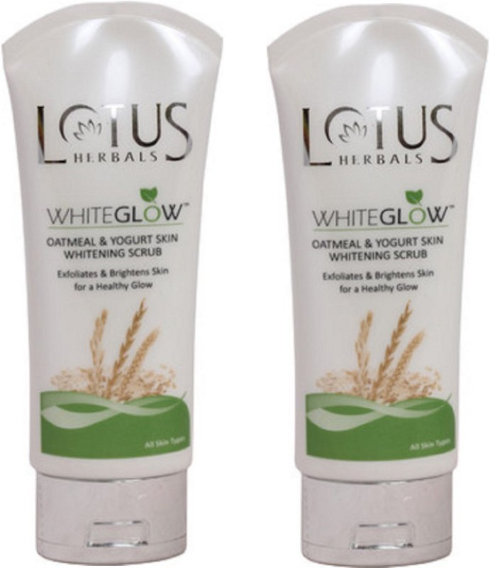 Lotus Herbals WhiteGlow Oatmeal and Yogurt Skin Whitening Scrub(100 g)