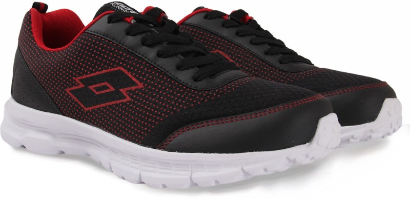 Lotto Running Shoes For Men(Black, Red)
