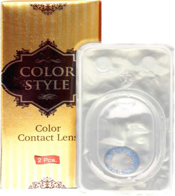 COLOR STYLE Spherical contact lens Monthly Contact Lens(-5.5, Blue, Pack of 1)