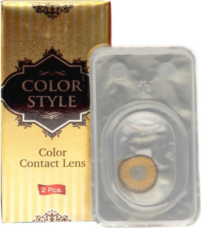 COLOR STYLE Spherical contact lens Monthly Contact Lens(-0.75, Dark Hazel, Pack of 1)