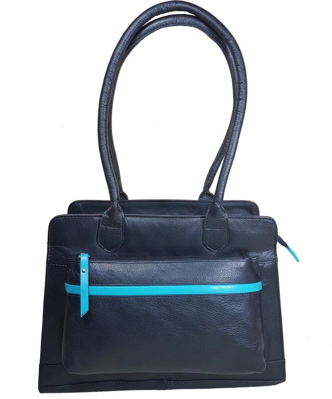 Goodwill Leather Art Women Black Shoulder Bag