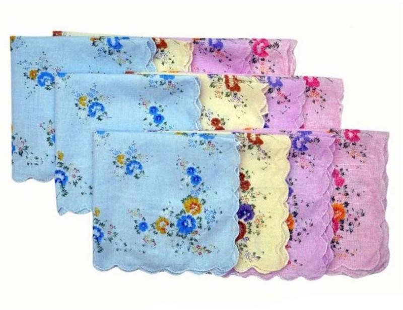 Tahiro Printed Handkerchiefs Handkerchief(Pack of 10)