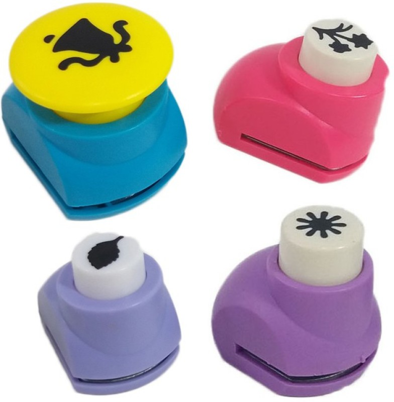 zing Punches & Punching Machines(Set Of 4, Multicolor)