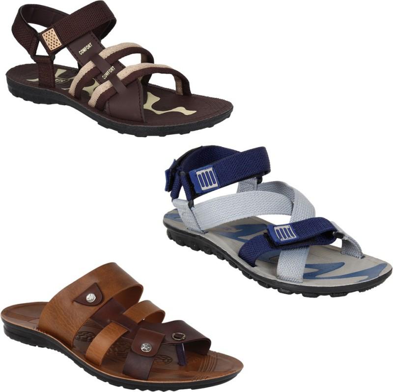 Earton Men Multicolor Sandals