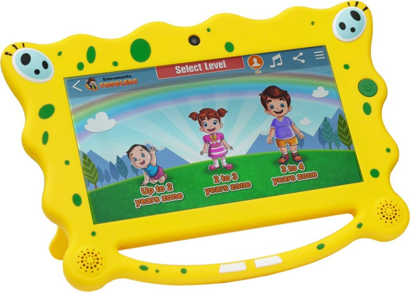 Extramarks Toddlers 8 GB 7 inch with Wi-Fi Only Tablet (Yellow)