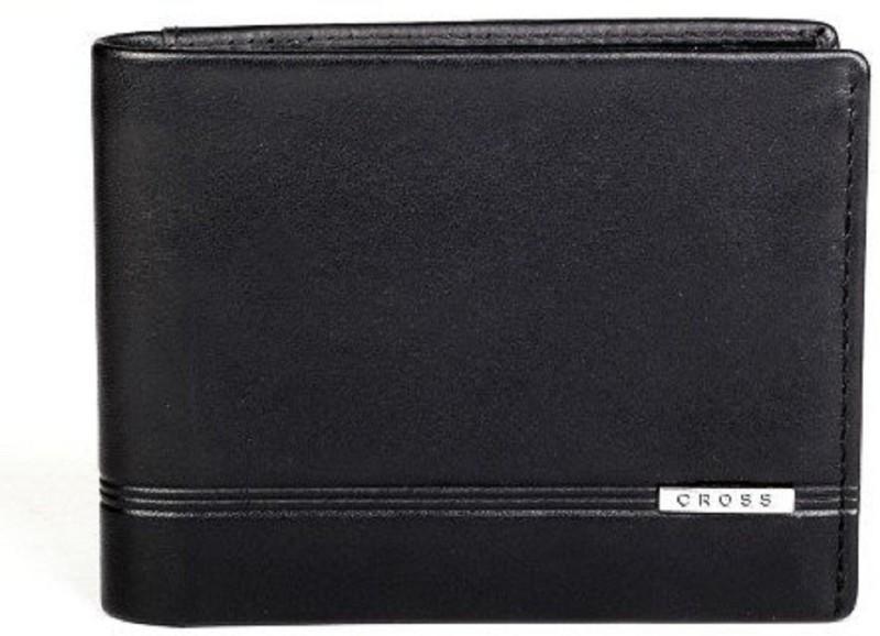 Cross Men Black Artificial Leather Wallet(8 Card Slots)