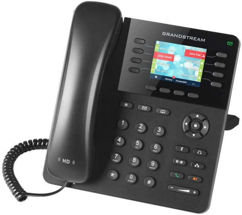 GRANDSTREAM GXP2135 Corded Landline Phone(Black)