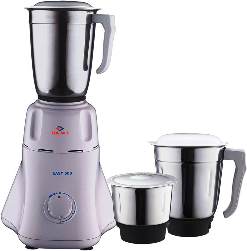 BAJAJ 410153 500 W Mixer Grinder(Black, White, 3 Jars)