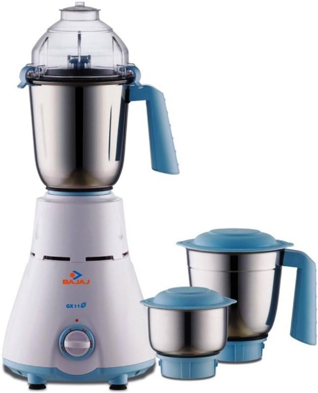 Bajaj GX 11 750W 410136 750 W Mixer Grinder(White, Black, 3 Jars)