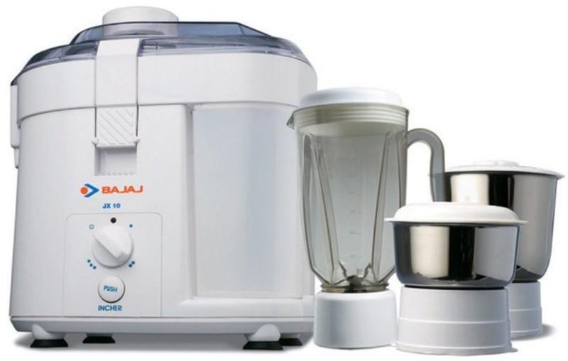 BAJAJ 410024 450 W Juicer Mixer Grinder(Black, White, 3 Jars)