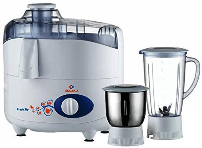 BAJAJ 410160 450 W Juicer Mixer Grinder(Black, White, 2 Jars)