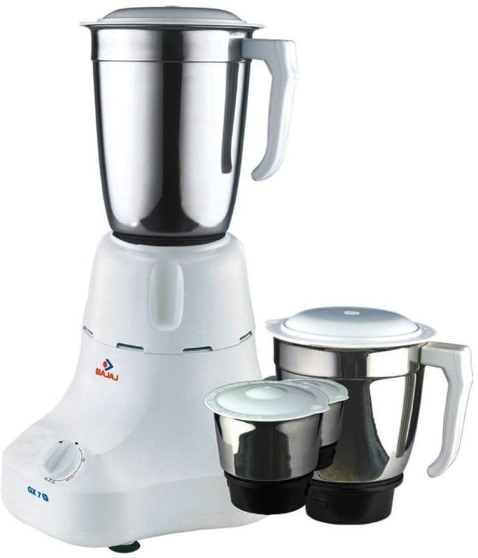 BAJAJ 410011 500 W Mixer Grinder(Black, White, 3 Jars)