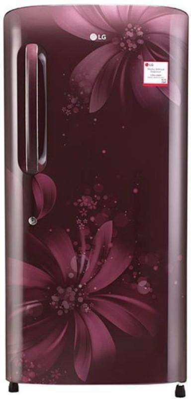 LG 190 L Direct Cool Single Door Refrigerator(Scarlet Aster, GL-B201ASAW)