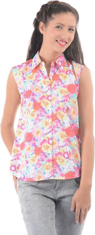 Pepe Jeans Women Floral Print Casual Multicolor Shirt