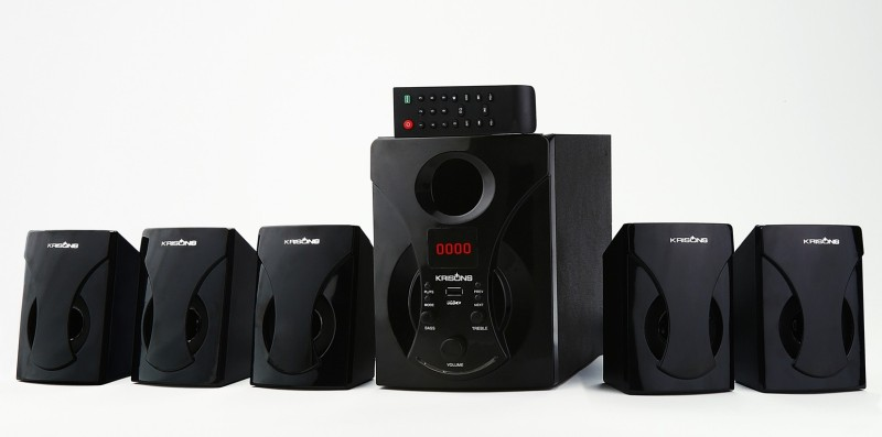 KRISONS KES777 Bluetooth Home Theatre(Black, 5.1 Channel)