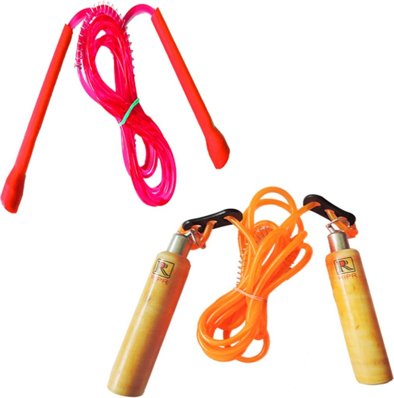 RIPR Hard work combo (Wooden skipping rope and pencil skipping rope) Badminton Kit