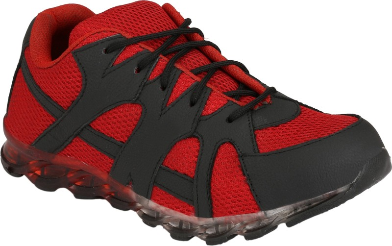 Eego Italy Genuine Leather Steel Toe Safety Shoes Boots For Men(Red)