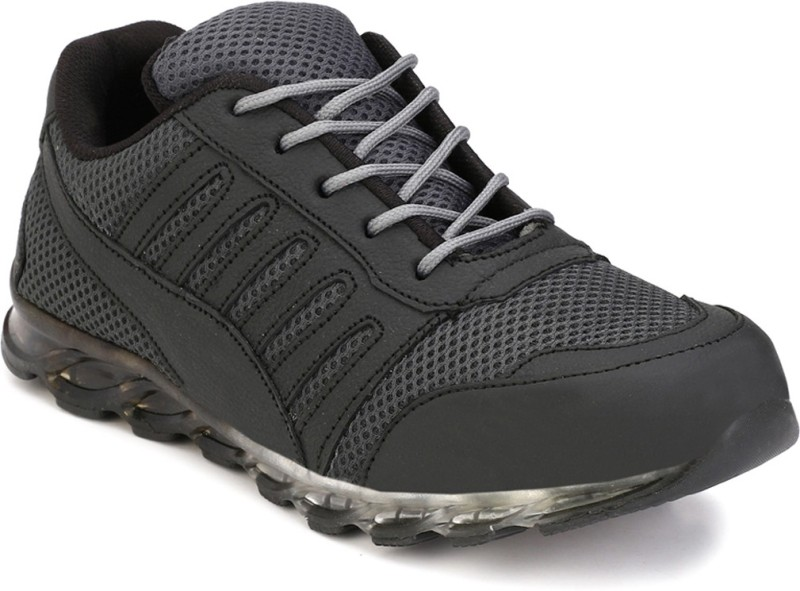 Eego Italy Genuine Leather Steel Toe Safety Shoes Boots(Black)