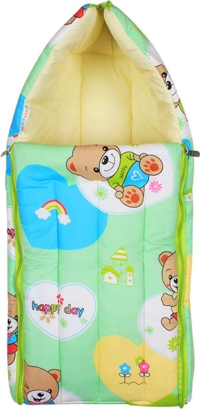Ole Baby Ole Baby 3 in 1 Teddy Hooded Reversible Carry Nest cum Baby Sleeping Bag Sleeping Bag(Green)