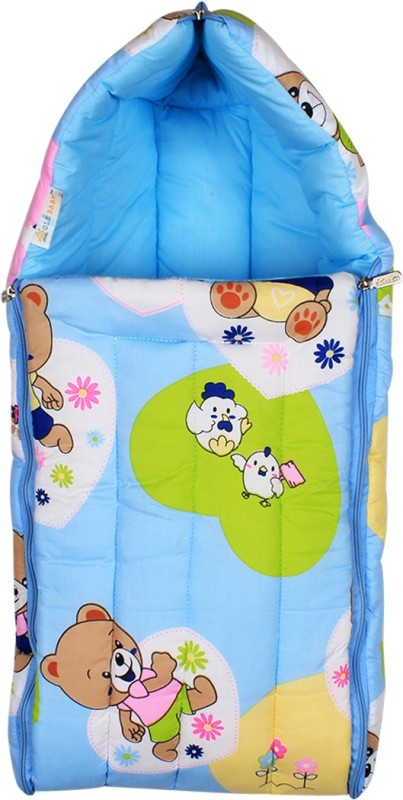 Ole Baby Ole Baby 3 in 1 Teddy Hooded Reversible Carry Nest cum Baby Sleeping Bag Sleeping Bag(Blue) Ole Baby 3 in 1 Teddy Hooded Reversible Carry Nest cum Baby Sleeping Bag