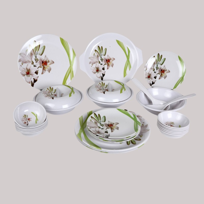 Eagleware TajMahal Pack of 32 Dinner Set(Melamine)