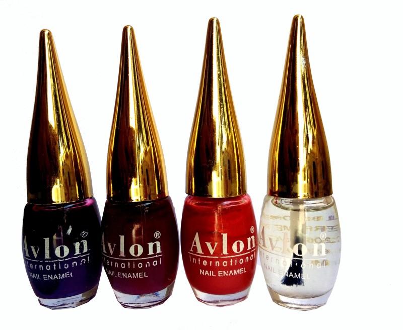 Avlon International Nail PolishPack of 4 Multicolor Brown(12 ml, Pack of 4)