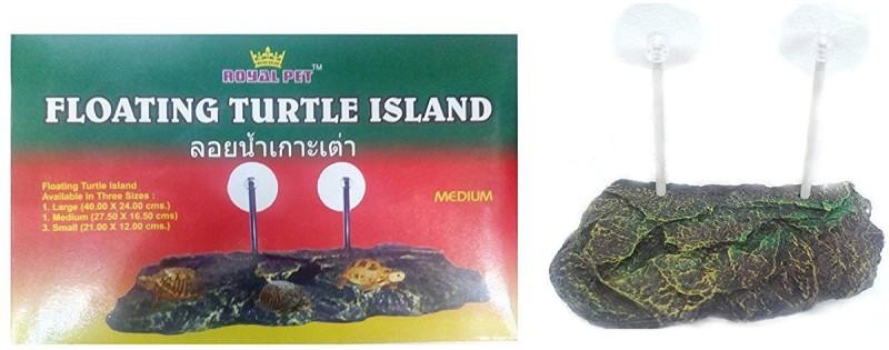 Aquapetzworld Floating Turtle Island | Perfect As Turtle Bask | Rest Platform | Medium Size (21.00 x 12.00cm) Fiber Tough Toy For Turtle