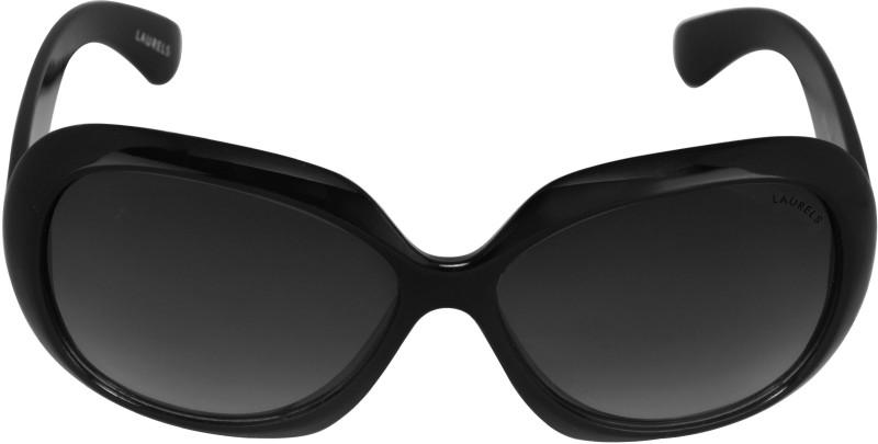Laurels Over-sized Sunglasses(Black) image
