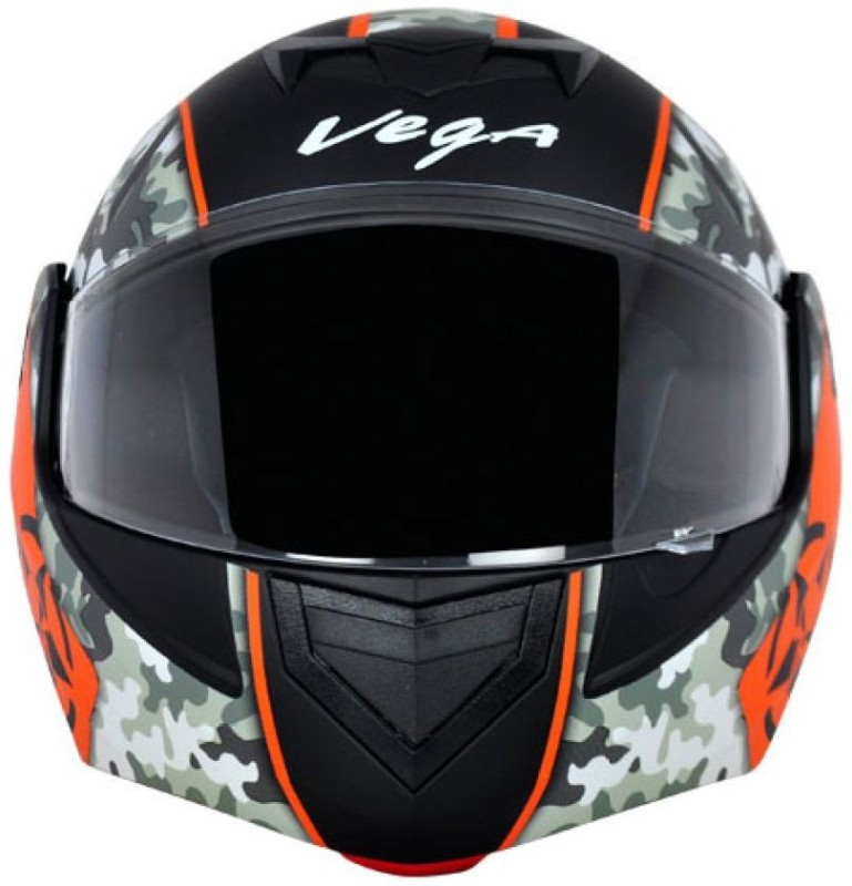 VEGA VEGA CRUX DX Motorbike Helmet(DULL BLACK ORANGE)