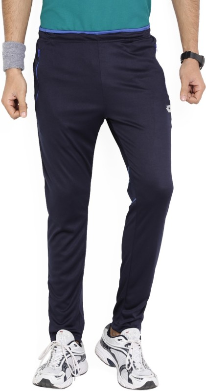 Lotto Solid Men's Blue Track Pants