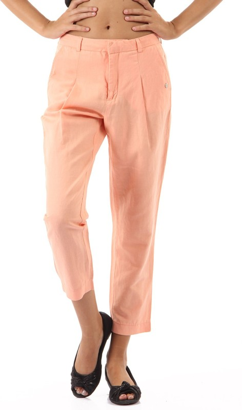 Pepe Jeans Regular Fit Womens Orange Trousers
