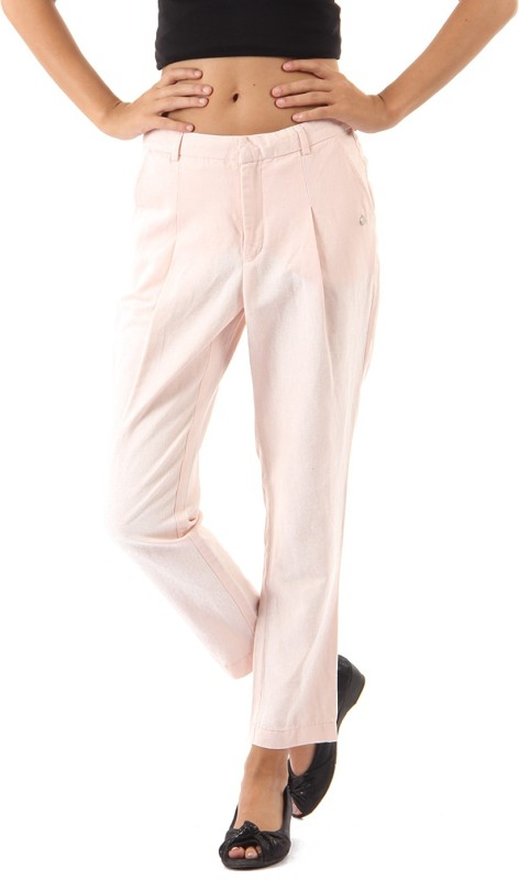 Pepe Jeans Regular Fit Womens Pink Trousers
