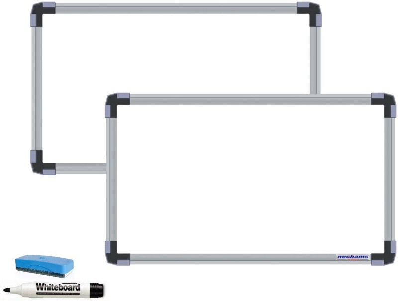 NECHAMS Non Magnetic 1.5ft x 2ft Whiteboards and Duster Combos(Set of 1, White)